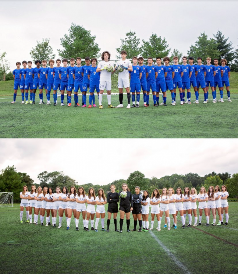 For both girls varsity soccer and boys varsity soccer, being connected off of the soccer field has played a large role in their successes on the field.